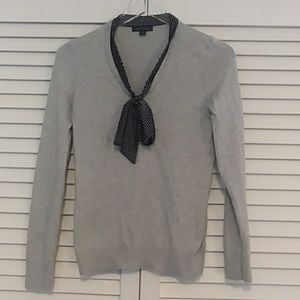 Tommy Hilfiger Gray and Navy Blue Light Sweater